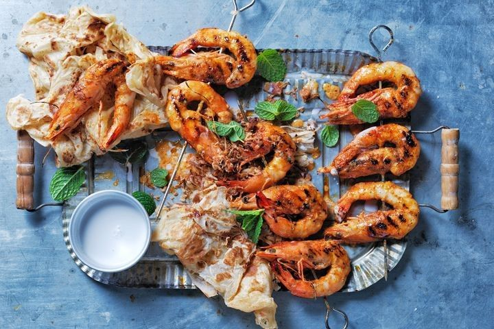 Say goodbye to 2017 with a big platter of prawns. What could be better?