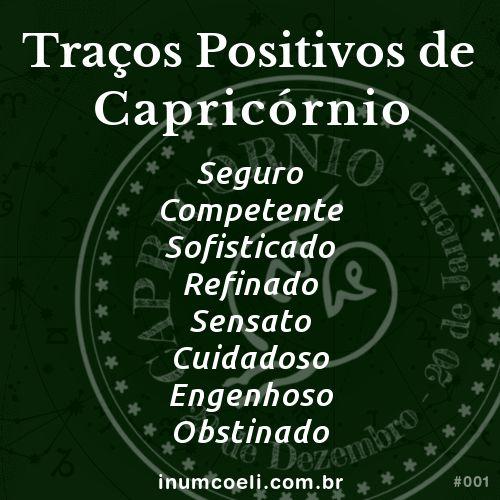 Traços Positivos de Capricórnio