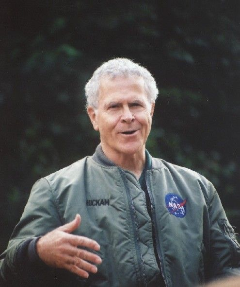 Homer Hickam, Nasa engineer, author of Rocket Boys AKA October Sky... and other novels. Been to his hometown of Coalwood, WV and met him at Schuler's in Grand Rapids a few years ago.
