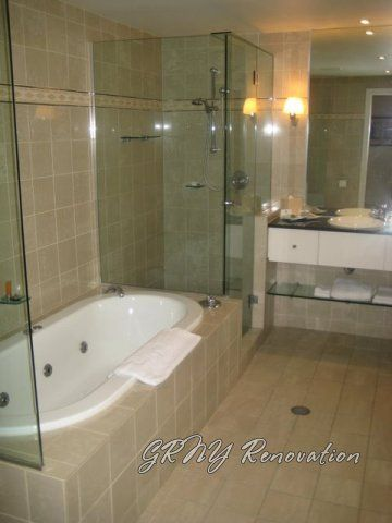 Small stand up shower with a bench photo gallery for Stand up bath tub