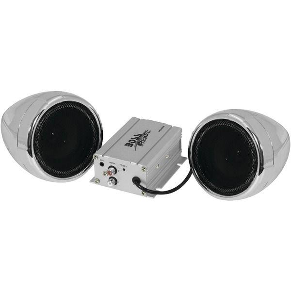 Boss Audio Mc400 600 Watt Motorcycle All Terrain Speaker Amp System Without Bluetooth R Silver Boss Audio Bluetooth Audio Sound System