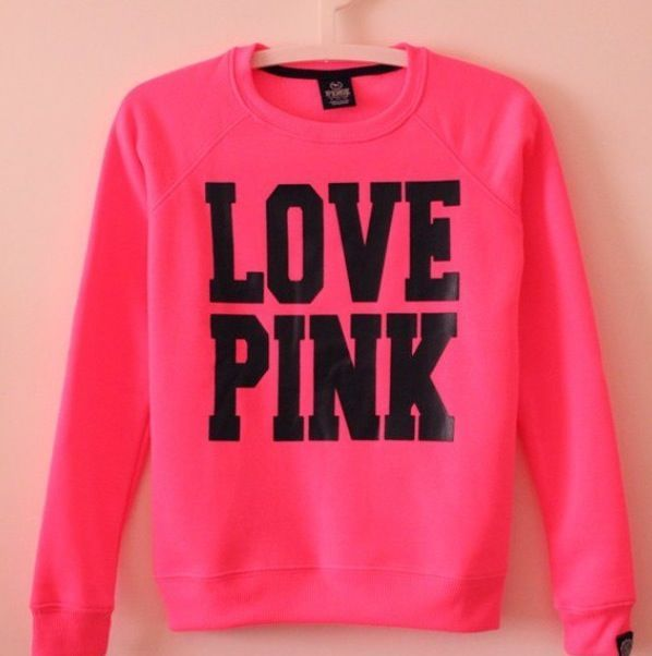 Victoria's Secret PINK Hoodie. How cute would this look with a beanie + curly hair.