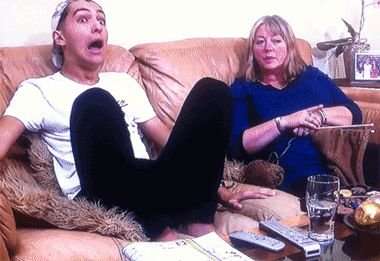 When I'm watching a really good show- love this family on Gogglebox xx