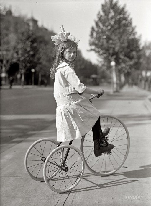 sweet girl out for a ride possibly 1913