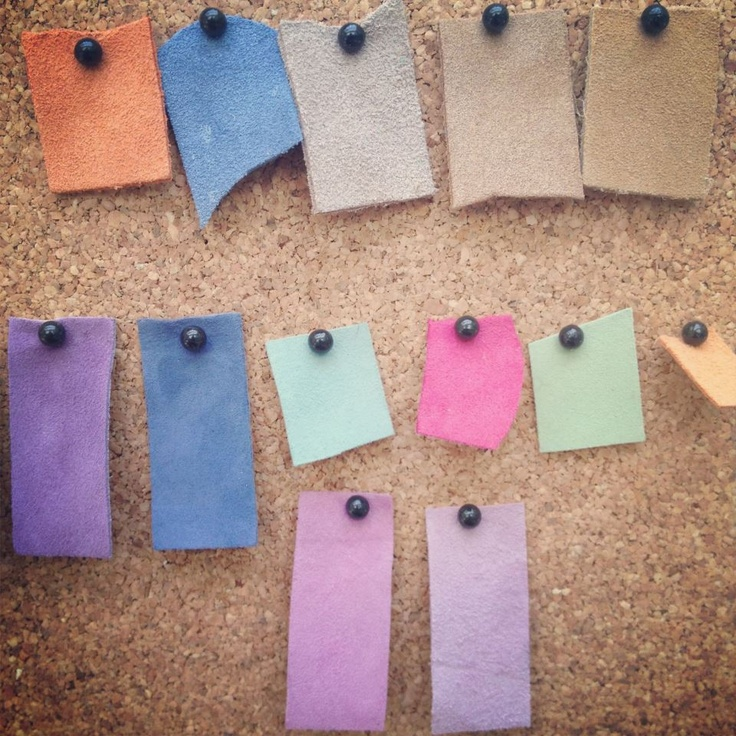 #leather #swatches #colour #pastel #purple #green #blue #pink #bright #fashion #design #style