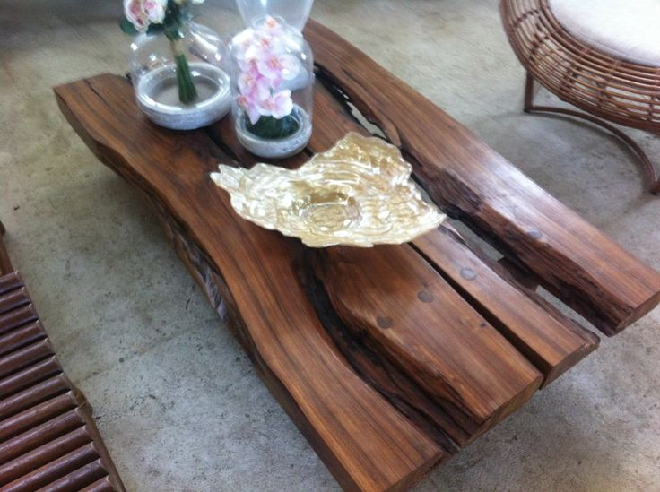 Mesa de centro tronco ra zes madeira da - Mesa de tronco ...