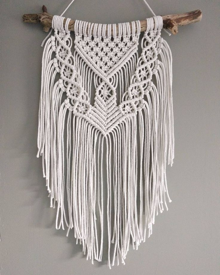 Beautiful rustic macrame wall hanging for a