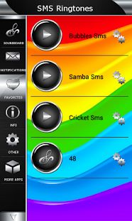 SMS Ringtones App for Android™ is the best collection of most popular sms ringtones and sounds. We created this notification app to make your phone and tablet unique. Application includes new soundboard with top message and contact tones, notification and alarms. You'll be able to set different ringtones for each of your friends by using short message ringtones. Download sms app here https://play.google.com/store/apps/details?id=com.fantasticringtones.smsringtones