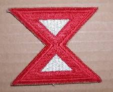 WW2 ERA US ARMY TENTH (10TH) ARMY INSIGNIA PATCH