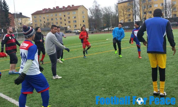 Uni Papua Indonesia Fc Finland at Helsinki doing training physical, communication, passing, understanding and small game. http://unipapua.net/berita/uni-papua-indonesia-fc-finland-physical/