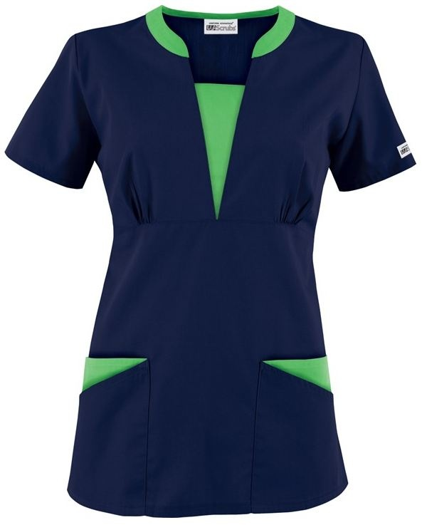 CT255 UA Best Buy Next Generation Contrast V-Neck Four Pocket Scrub Top http://www.uniformadvantage.com/pages/prod/ct255-vneck-scrub-top.asp?frmColor=NAGEC