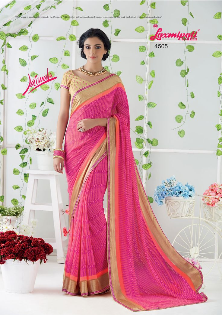 Impress all with your amazing traditional look by draping this saree that earn you loads of plaudits from onlookers. Includes matching blouse fabric. #Catalogue #JAIMALA #DesignNumber: 4505 #Price - ₹1658.00 #ReadyToWear #Wedding #Apparel #Art #Autumn #Black #Border #MakeInIndia #CasualSarees #Clothing #ColoursOfIndia #Couture #Designer #Designersarees #Dress #Dubaifashion #Ecommerce #EpicLove #Ethnic #Ethnicwear #Exclusive