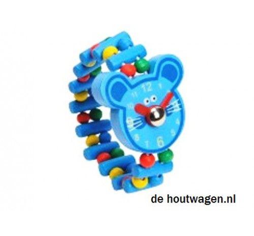 speelgoed horloge met blauwe muis