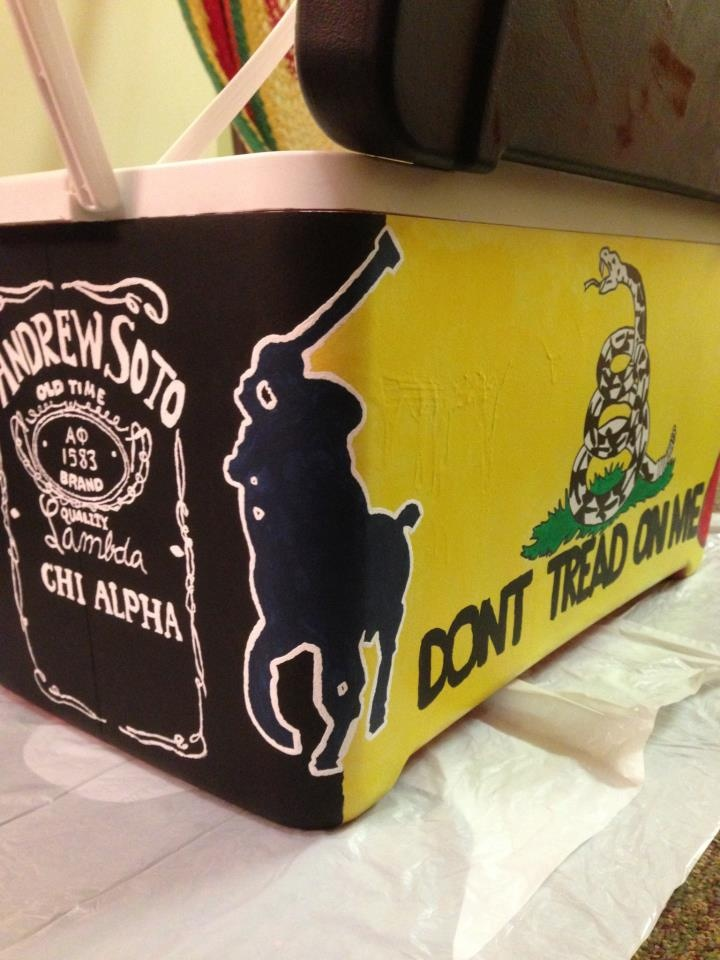 Label Label Corner pour une glacière peinte!   – Crafts