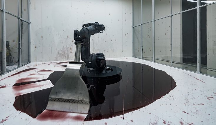 Talking to artists Sun Yuan and Peng Yu, the ghosts inside the machine.