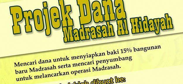 Projek Dana Madrasah Hidayah, Batu Burok, Kuala Terengganu - Hilmi - Blogger Maktab