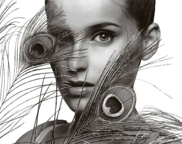 Warwick Saint s Celebrity Portraits - Nelly Furtado in Peacock