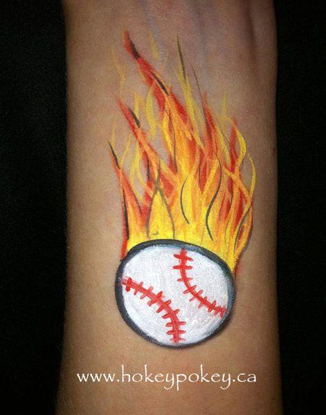 Popular Face Paint Designs | Baseball face painting idea ...