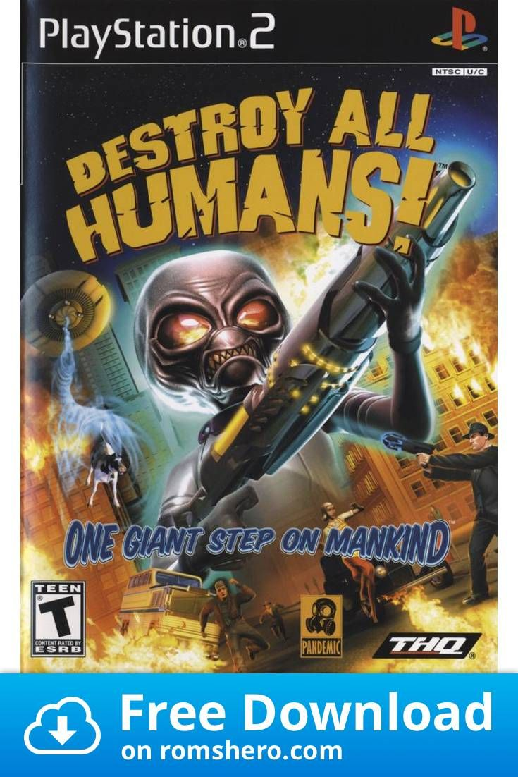 Download Destroy All Humans Playstation 2 Ps2 Isos Rom In 2020