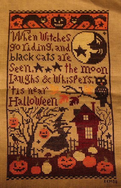 When witches go riding by Prairie Schooler.  I want to make this one!