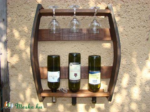 Bortartó és pohártartó egyben ! , Férfiaknak, Otthon, lakberendezés, Dekoráció, Sör, bor, pálinka, Meska