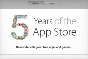 To celebrate the fifth anniversary of its App Store, It is giving away premium games for free or on heavily discounted rates.