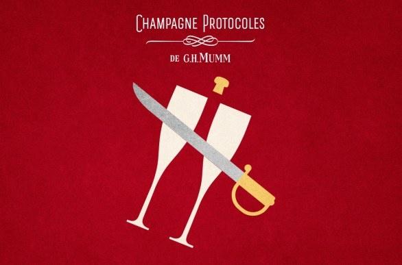 Champagne Mumm ad.