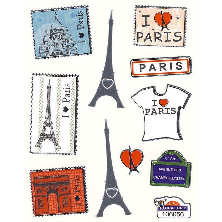 Mini-autocollants Souvenirs de Paris