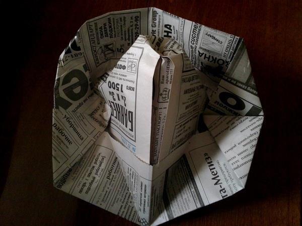 Оригами шляпа деревенская
