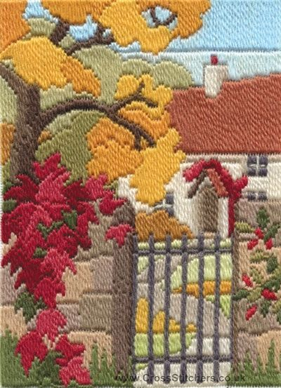 Autumn Garden Long Stitch Kit from Derwentwater Designs