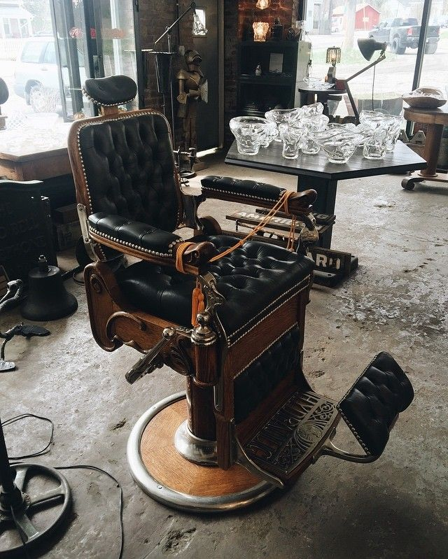 For all you barbers out there. @clevelandart is selling a vintage barber chair that was recently completely restored. Great industrial furniture as well. Check him out. by whiskeygrade