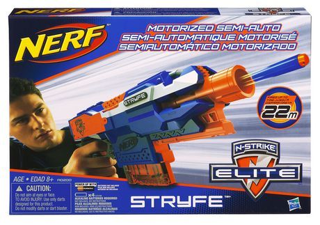NERF N-STRIKE Elite STRYFE Blaster for sale at Walmart Canada. Buy Toys online at everyday low prices at Walmart.ca
