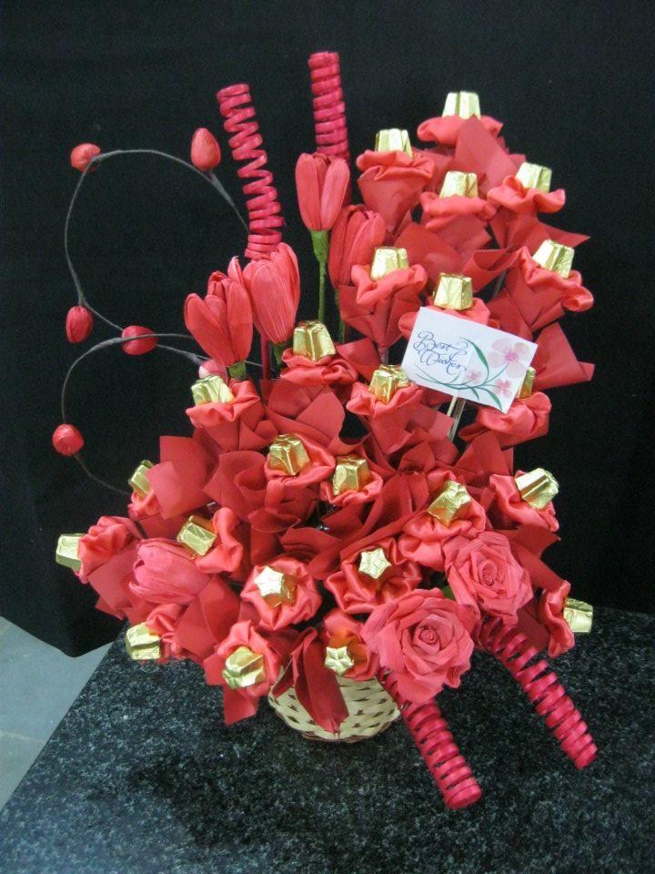 Custom Chocolate Bouquets from #ModernCakesPune www.moderncakespune.com