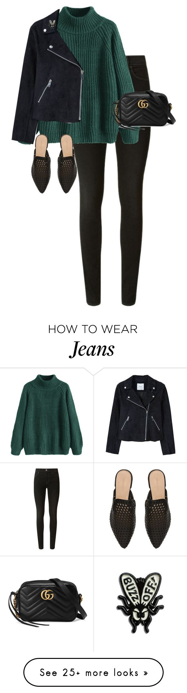 """""""Untitled #13701"""" by alexsrogers on Polyvore featuring J Brand, MANGO, Witchery and Gucci"""