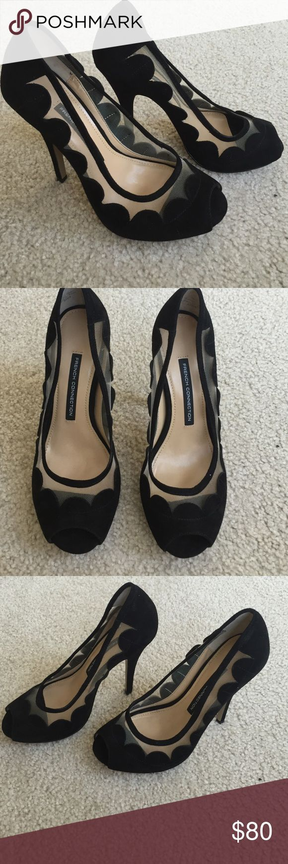 French Connection new black suede heels shoes 7.5 French Connection new black suede heels in size 7.5 , never worn they were store display no signs of wear besides a bit of bottom part from store try on. 🙅🏻 PLEASE DO NOT ASK LOWEST PRICE 🙅🏻 ------------ Instead ---------------- ✅ USE OFFER BUTTON ✅ --------😐 no low balling please😐-------- 💁🏻 NO DRAMA HERE LETS BE NICE 🤗 🚫🚭 SMOKE FREE - PET FREE HOME 🚫🐾 French Connection Shoes Heels