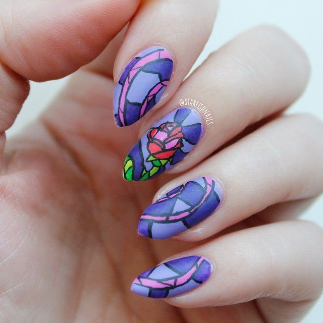 "Nail Art Inspired by Disney's ""Beauty and the Beast"""