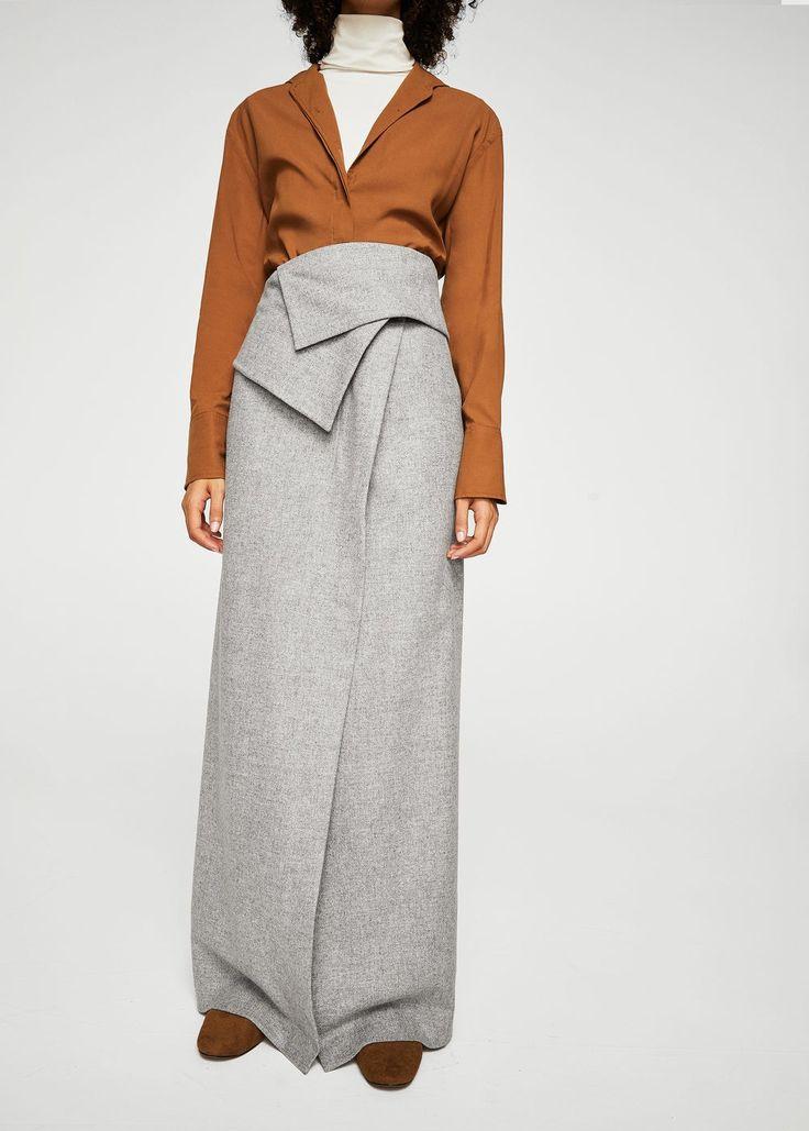 Wool long skirt -  Women | MANGO USA