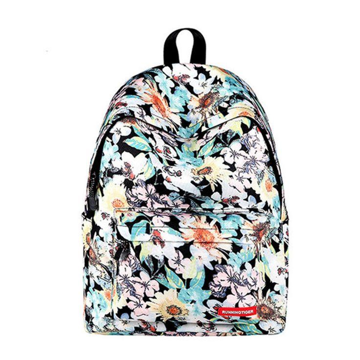Fashion Women Floral Printing Backpack Daypacks Canvas School Bags For Teenager Girls Rucksack Travel Backpack sac a dos femme  #backpack #fashion #shoulderbags #WomenWallets #YLEY #bag #L09582 #Happy4Sales #highschool #kids #handbags #bagshop