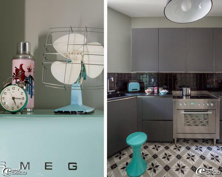 meubles de cuisine et carreaux de ciment