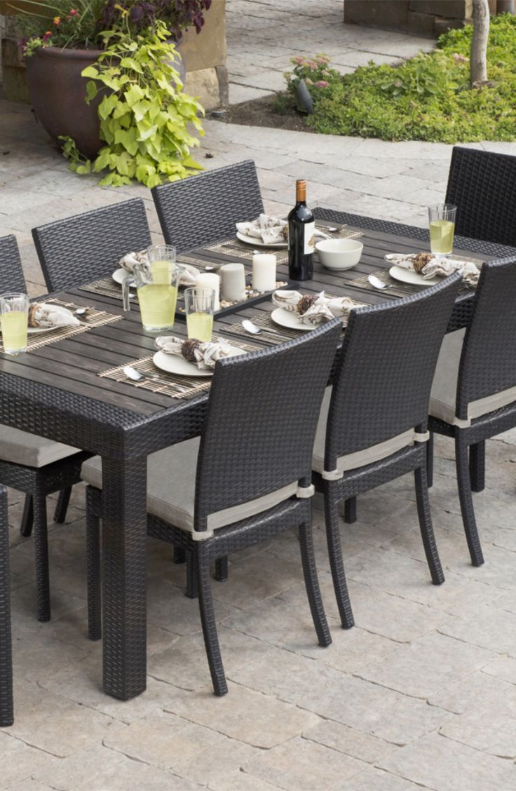 Rst brands deco 9 piece patio dining set the outdoors is quickly becoming the new indoors especially in the company of the rst brands deco 9 piece patio