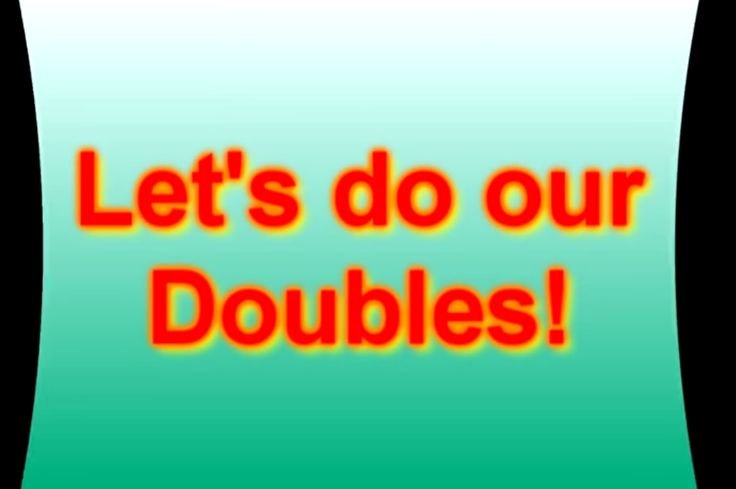"""Practice math facts with """"Let's do our doubles"""" video."""