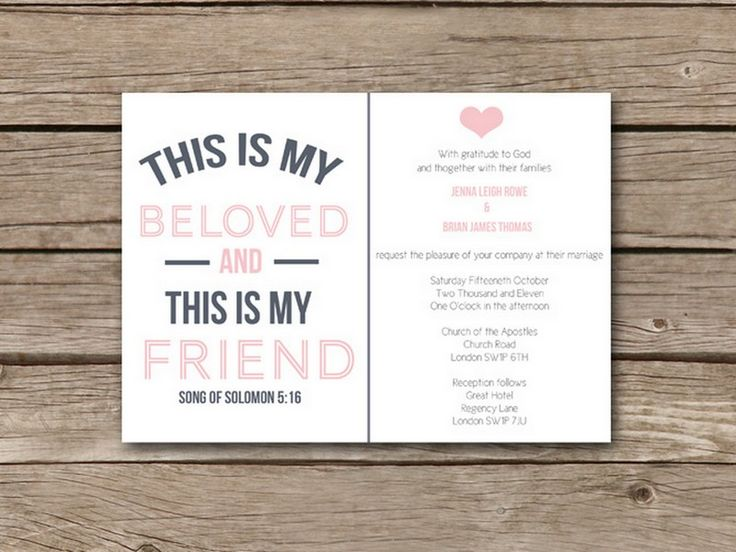 Christian Wording For Wedding Invitations: 25+ Best Ideas About Invitation Text On Pinterest
