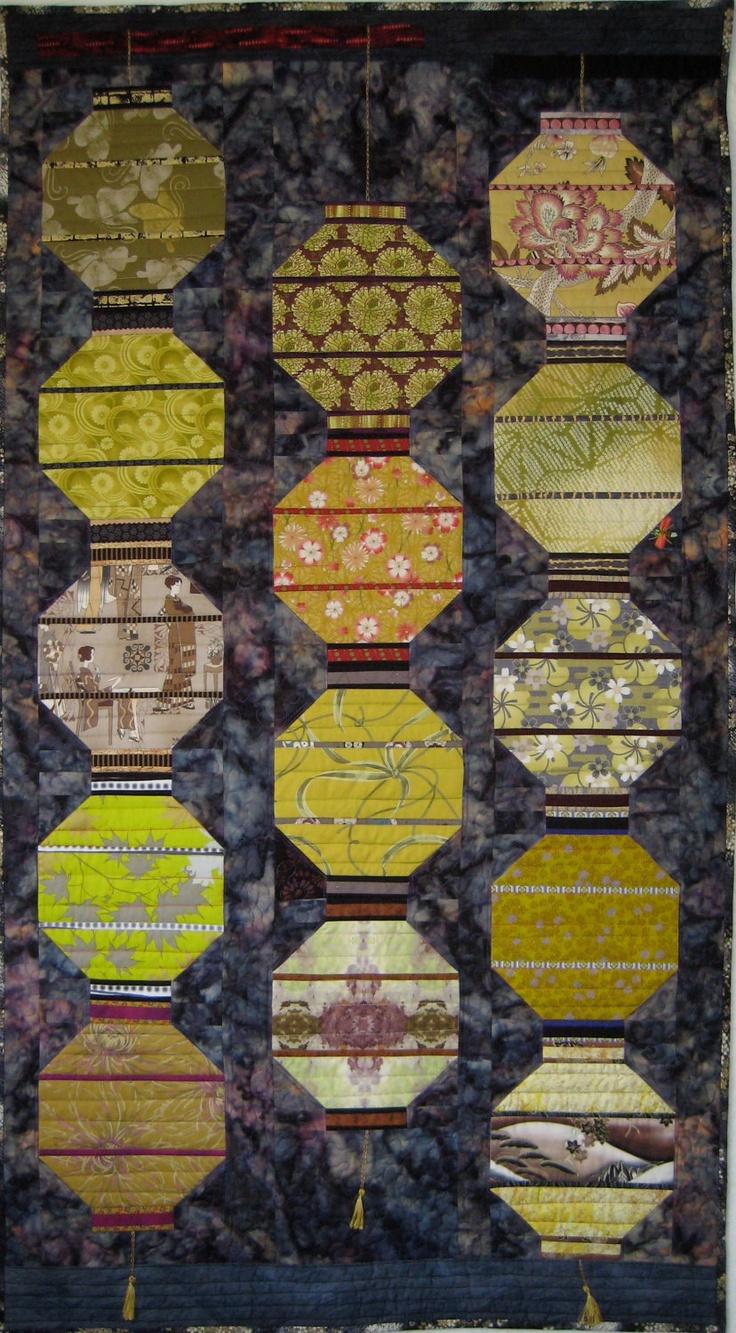 44 best Lantern Quilts images on Pinterest   Lanterns, Japanese ... : japanese lantern quilt pattern - Adamdwight.com