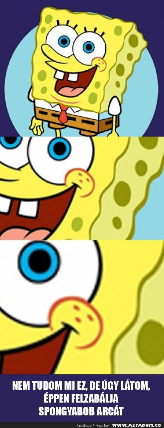 Mi a frász van Spongyabob arcán?