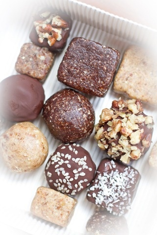 vegan energy truffles