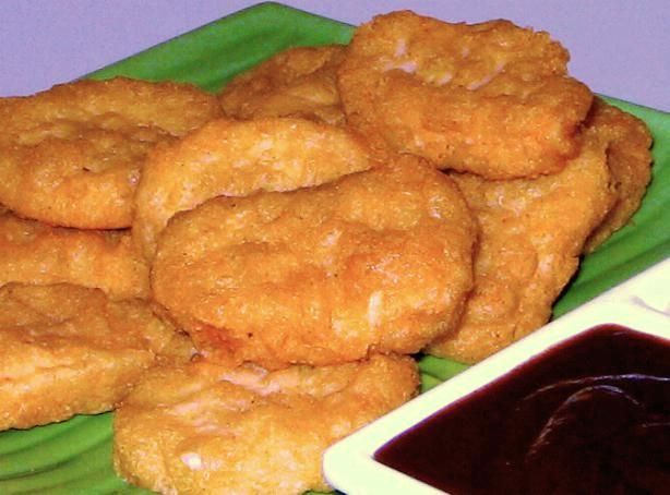 Mc Donald s Chicken Mc Nuggets (Copycat) from Food.com: My copycat homestyle recipe for McDonald's Chicken McNuggets.