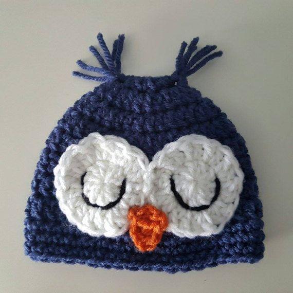 Newborn Owl Hat Crochet Hat First Hat Hospital Hat