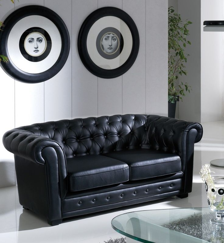 Sofá Chester Negro Alfred http://www.ambar-muebles.com/sofa-chester-negro-alfred.html