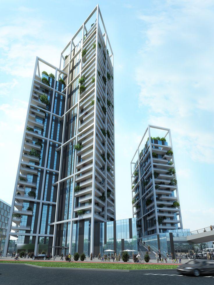 Porta Nuova Condominium | Arquitectonica  ~ Great pin! For Oahu architectural design visit http://ownerbuiltdesign.com