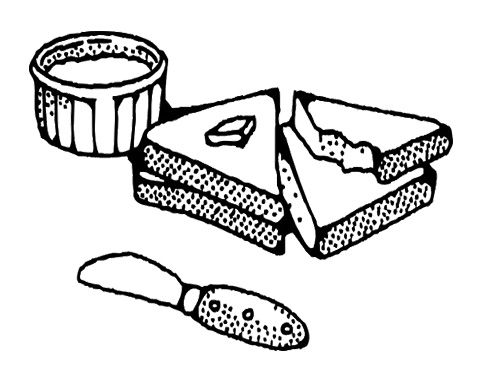 Peanut Butter And Sliced Bread Coloring Pages For Kids